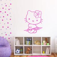 Stickers Hello Kitty Hibiscus