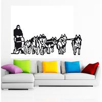 Stickers Husky chiens de traineau Mescher