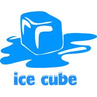Stickers déco cuisine frigo Ice cube glaçon