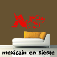 Stickers Mexicain faisant la sieste