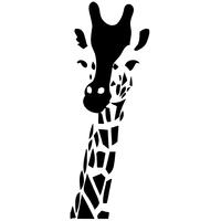 Stickers tête de Girafe