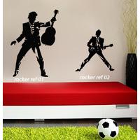 Stickers musique rock Rockeur 01