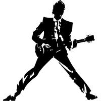 Stickers musique rock Rockeur 02