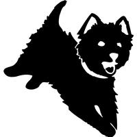 Stickers autocollant chien Westie