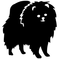 Stickers autocollant chien Loulou de Poméranie