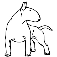 Stickers autocollant chien Bull terrier