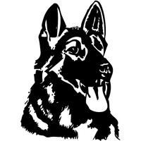 Stickers autocollant chien Malinois 04