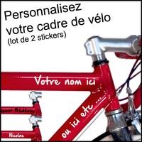 Stickers autocollant cadre vélo personnalisé lot de 2