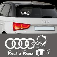 Stickers autocollant Bébé à bord AUDI lot de 2