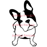 Stickers autocollant chien Bulldog Francais