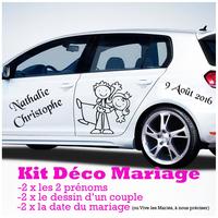 Sticker Mariage KIT complet pour la déco de la voiture des mariés