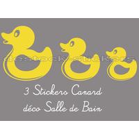 3 Stickers canard salle de bain