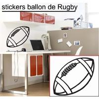 Stickers ballon de rugby