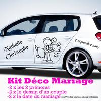 Stickers Mariage KIT complet pour la déco de la voiture des mariés