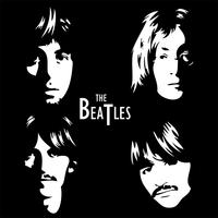 Stickers carré 4 Beatles