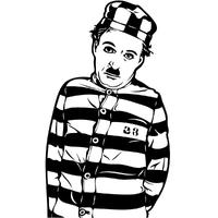 Stickers Charlot Charlie Chaplin prisonnier