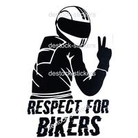 Stickers moto Motard Respect for bikers