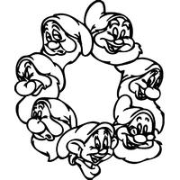 Stickers enfants les 7 nains