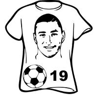 stickers BENZEMA maillot de foot 19