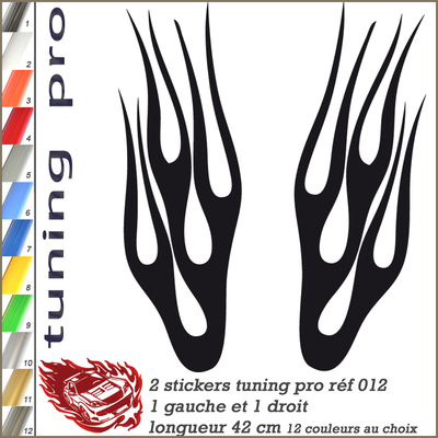 STICKER TUNING FLAMING 012-2
