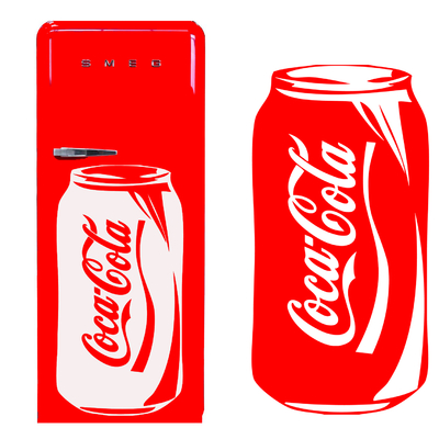 sticker Cannette coca en 114 cm