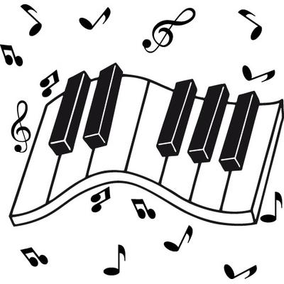 Clavier et notes de musique