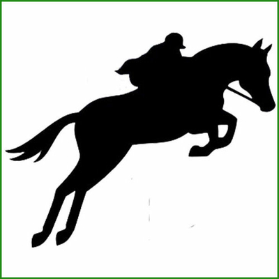 stickers cheval saut d'obstacle