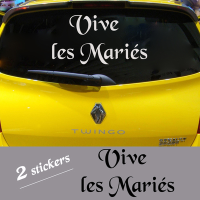 Stickers Mariage 2 x VIVE LES MARIES