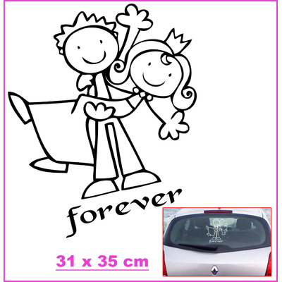 Stickers Mariage Couple forever 31 x 35