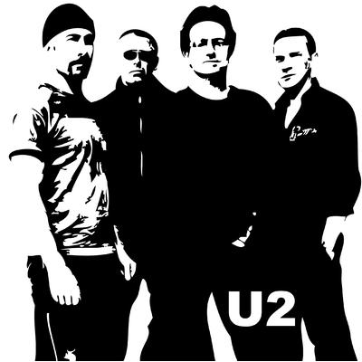 Stickers U2 en 58 x 58 cm ou 100 x 100 cm
