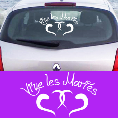 Stickers vive les maries coeurs