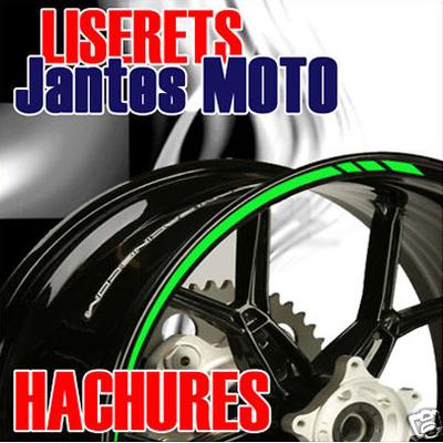 Stickers Liserets Jantes Moto Hachures