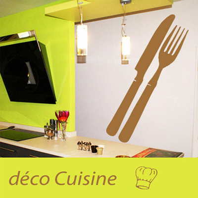 stickers d co cuisine couverts deco cuisine destock stickers. Black Bedroom Furniture Sets. Home Design Ideas