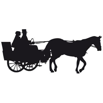 stickers cheval attelage