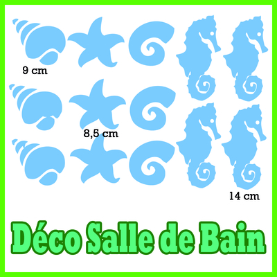 stickers 13 SUJETS Salle de Bain
