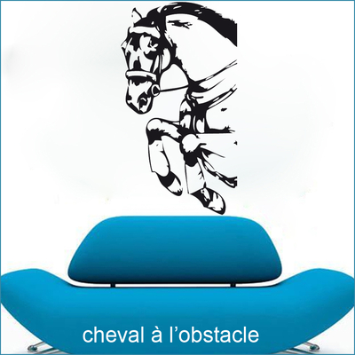 stickers cheval à l'obstacle