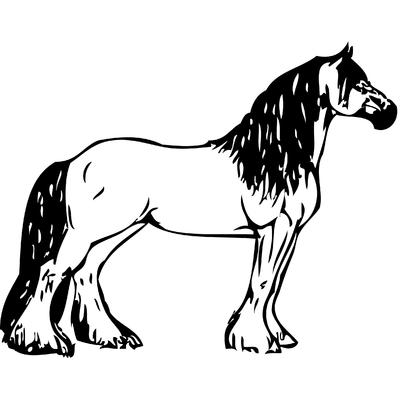 stickers cheval frison