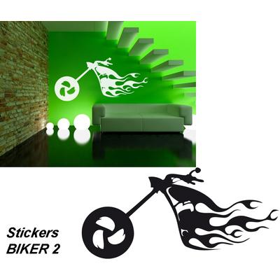 Sticker autocollant Biker 02