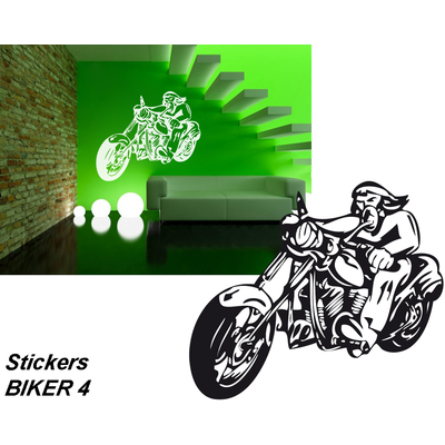 Sticker autocollant Biker 4