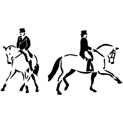 stickers dressage chevaux