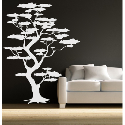 sticker arbre nuages japon nature arbres destock stickers. Black Bedroom Furniture Sets. Home Design Ideas