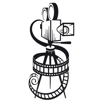 Stickers caméra cinéma