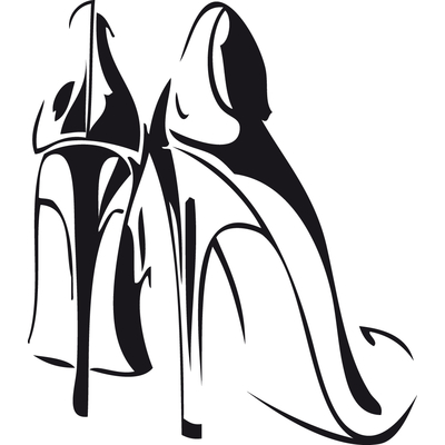 stickers chaussures talons hauts