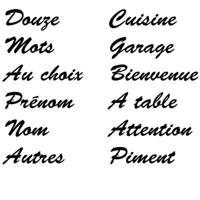 stickers 12 mots au choix
