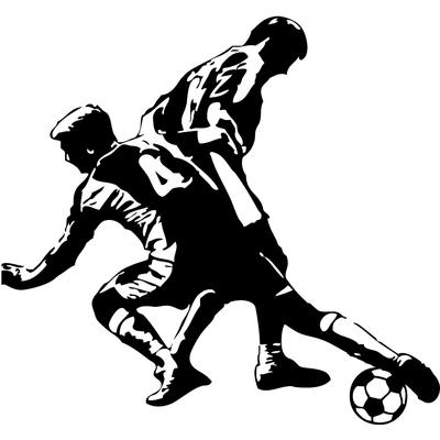 stickers 2 joueurs foot