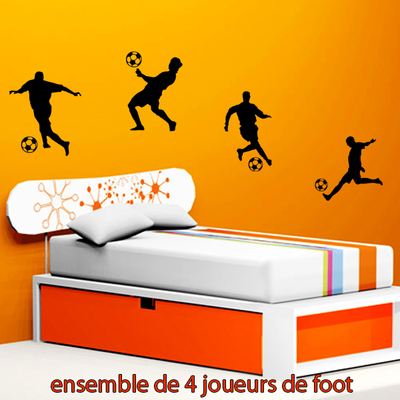 4 stickers footalleurs