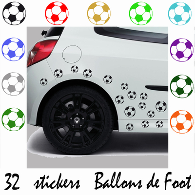 stickers 32 stickers ballons de foot