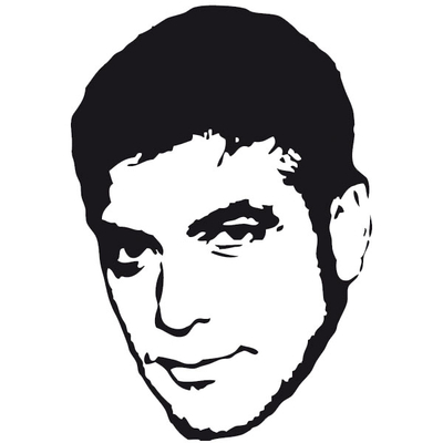 Stickers Georges CLOONEY
