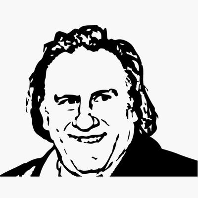 Stickers Gérard Depardieu