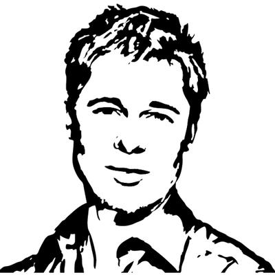 Stickers Brad Pitt
